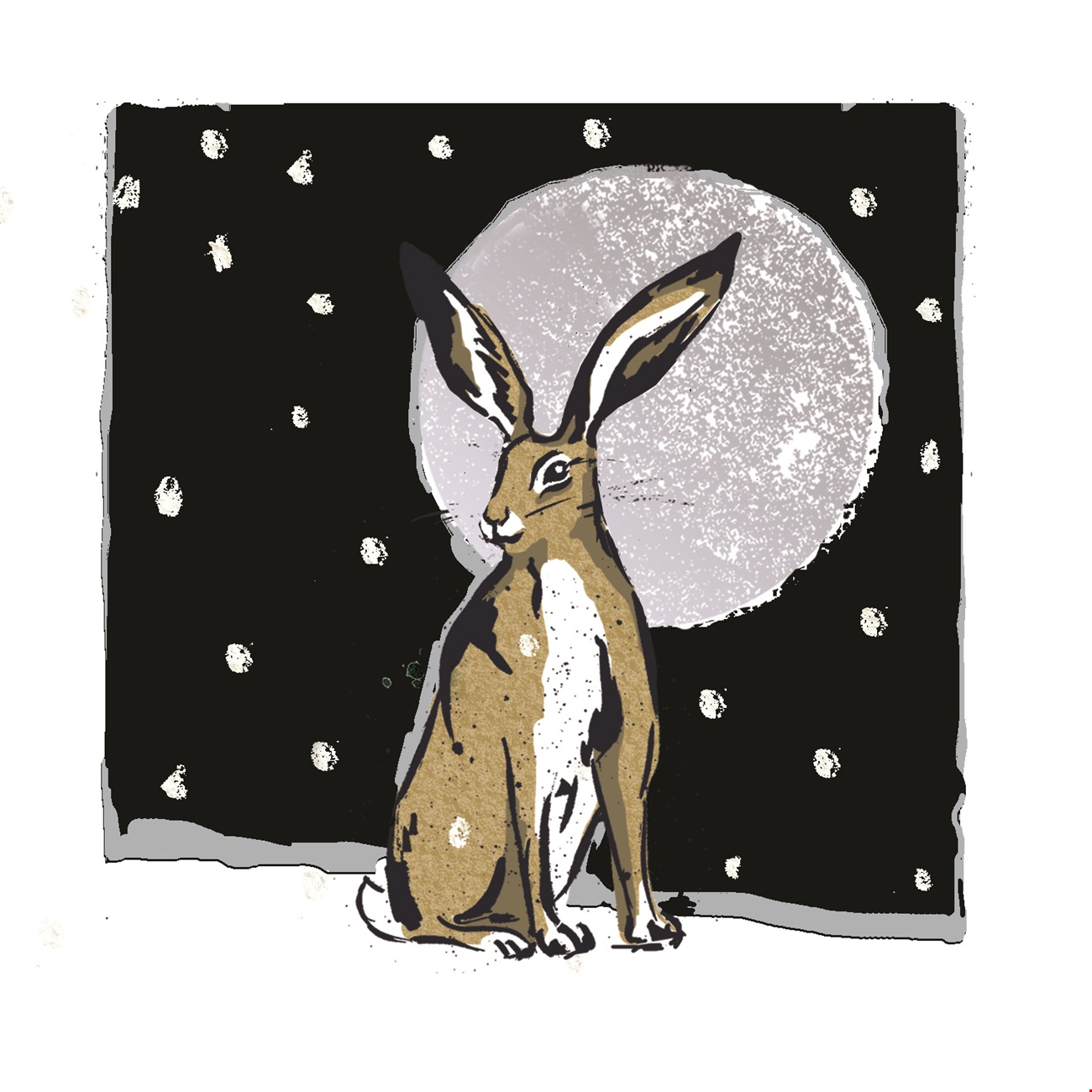 Hare in Moonlight
