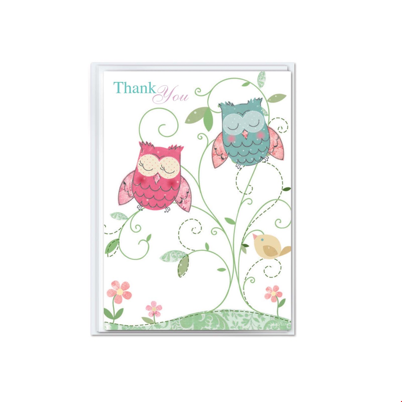 Mini Notecard  - Thank you owls