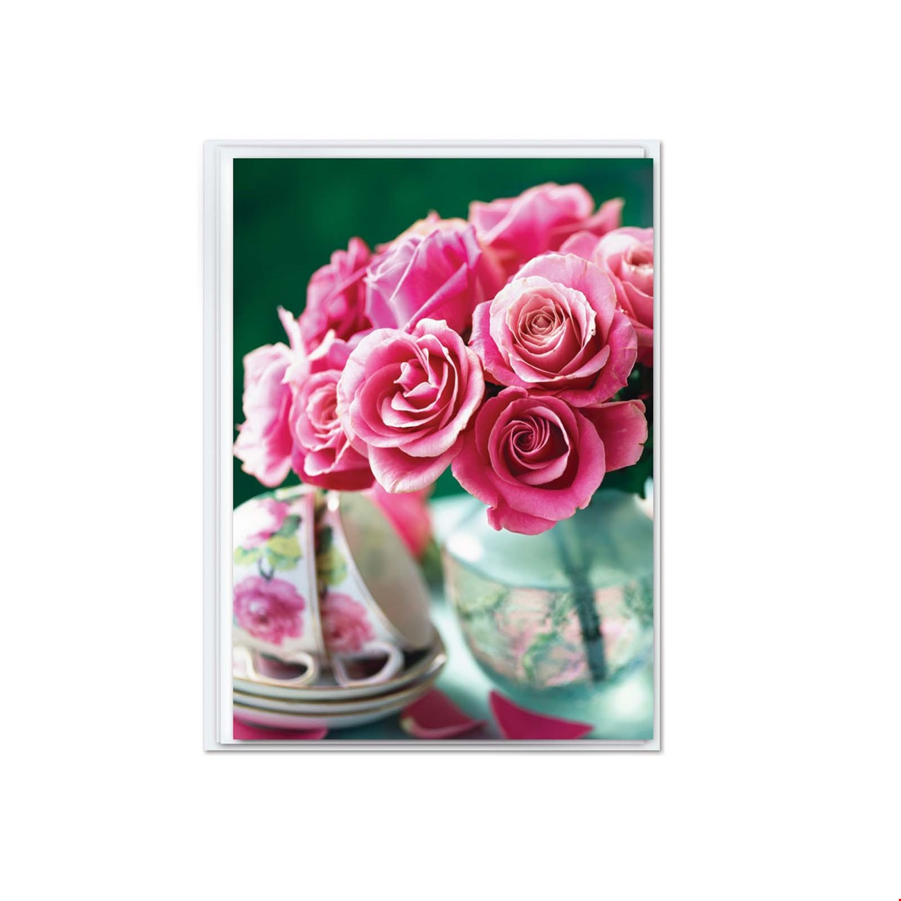 Mini Notecard - Pink roses