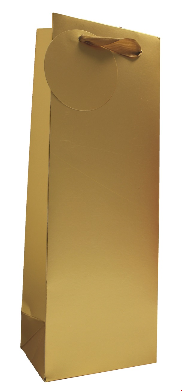 Gold Matt Metallic Bottle Bag