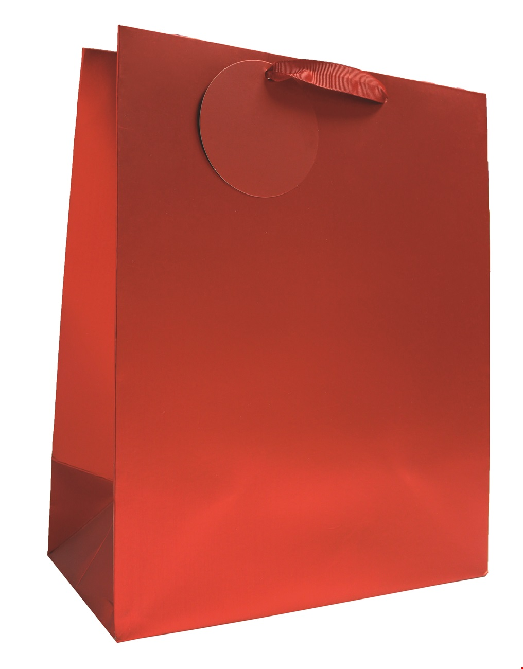 Red Matt Metallic Large Bag