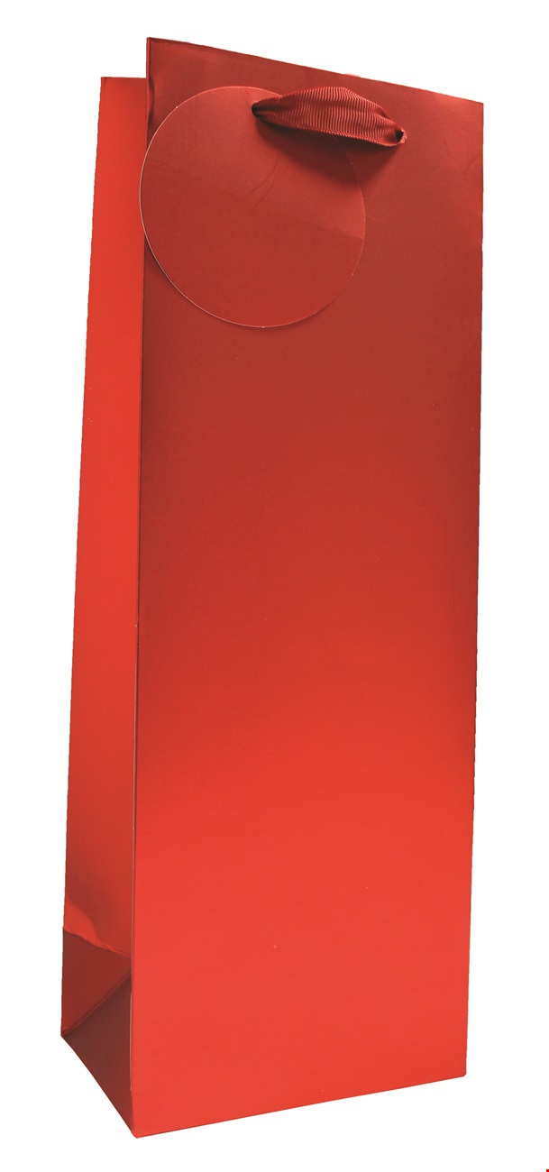 Red Matt Metallic Bottle Bag