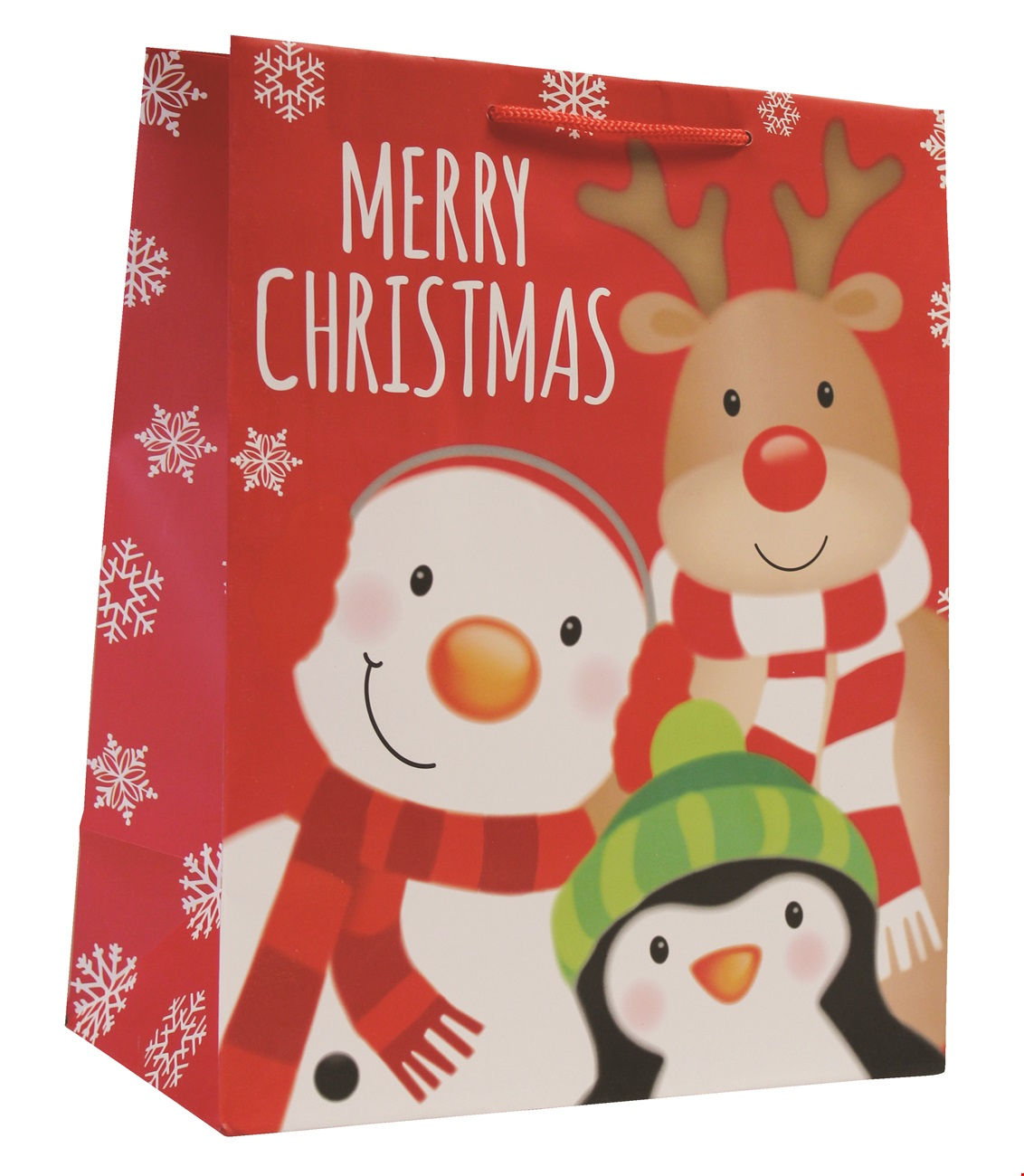 Snowman Head Large Bag