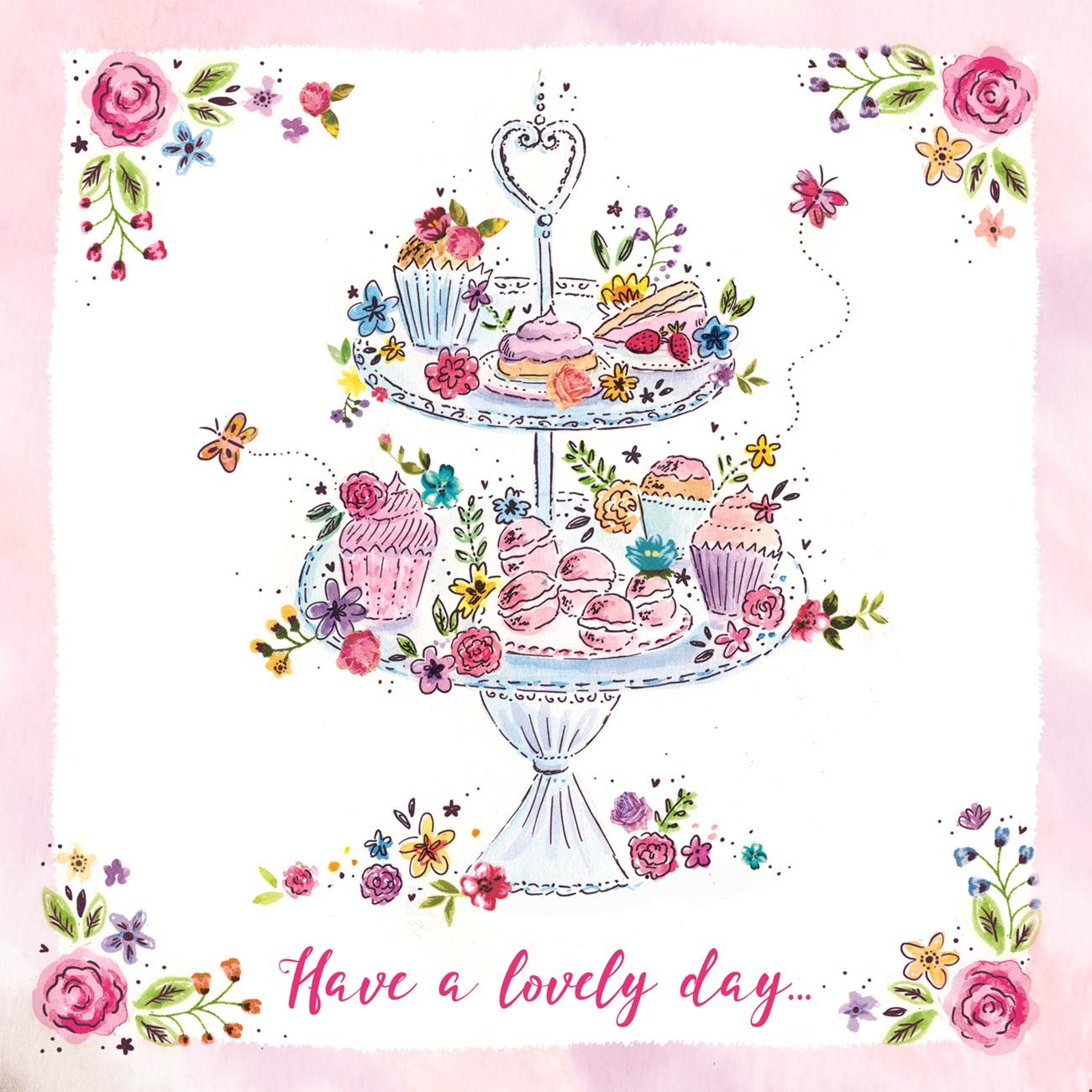 Cake Stand Birthday Card
