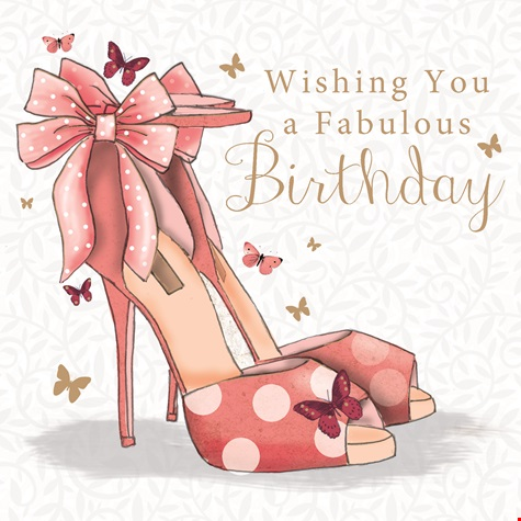 New Shoes Birthday Card
