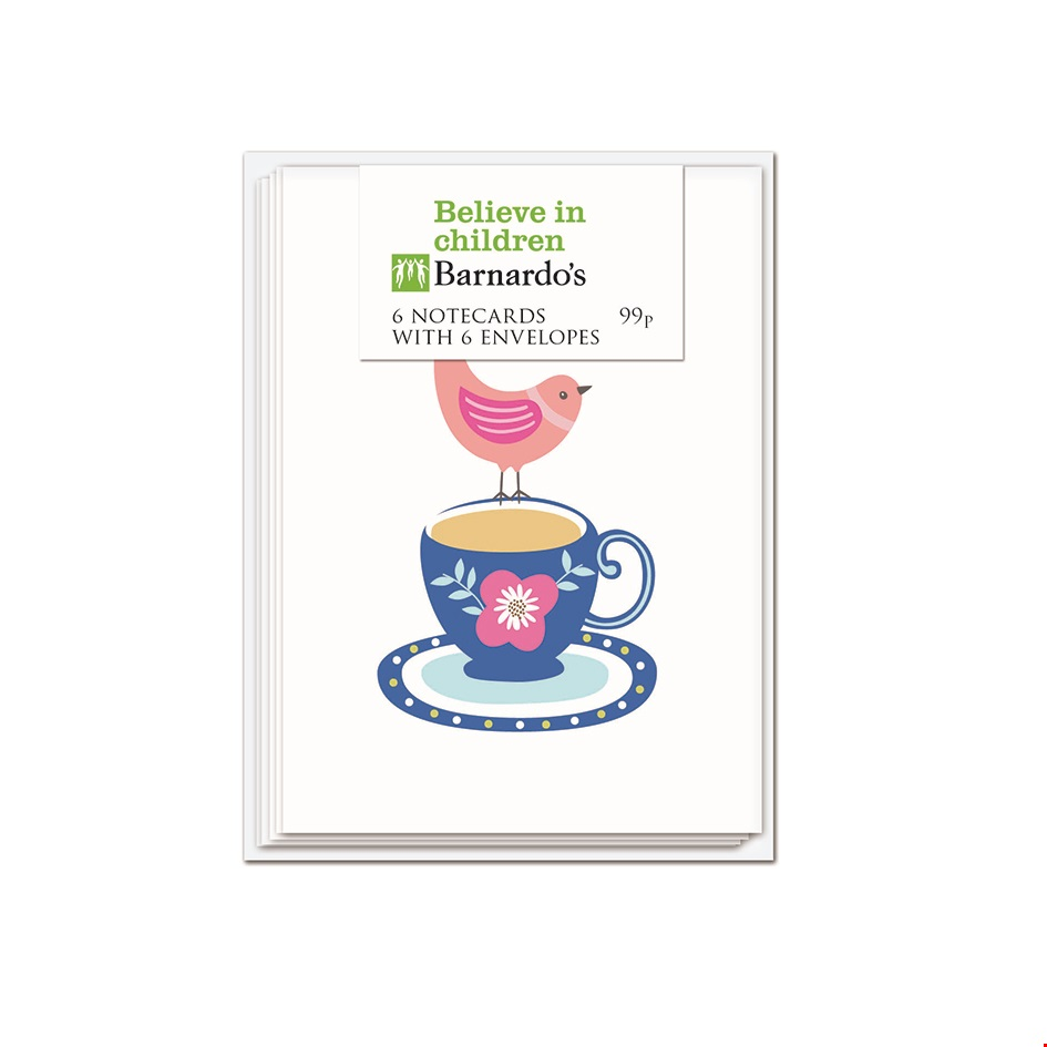Tea Cup Birds - Note Card Pack