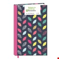 A6 Note Book - Navy Leaf Design