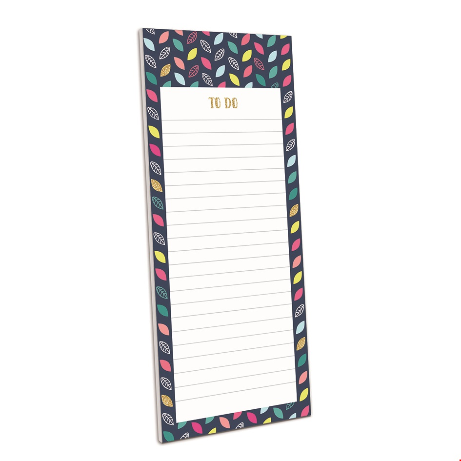 Magnetic Memo Pad - Leaf Pattern