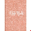 Rose Gold Glitter A5 Charity Notebook