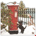Posting a Letter Christmas Cards - Welsh