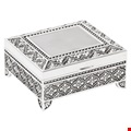 Silver Plated Art Deco Design Trinket Box