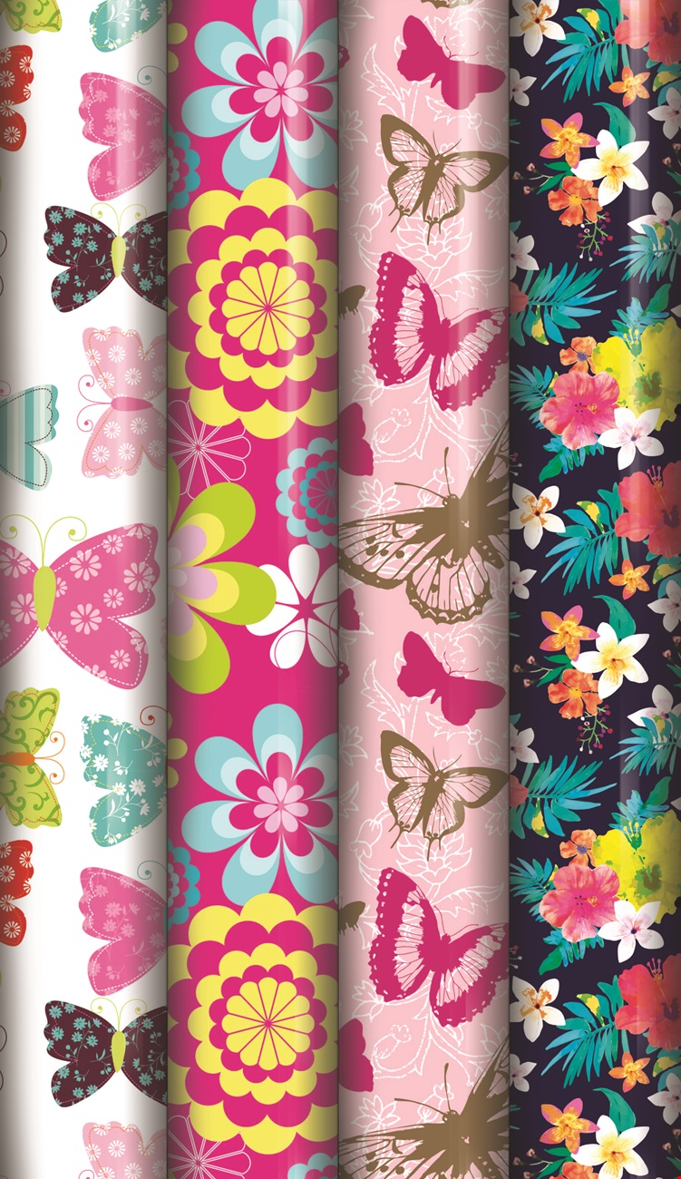 3m Floral Roll Gift Wrap