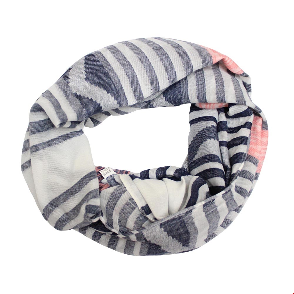 Scarf Grey stripes