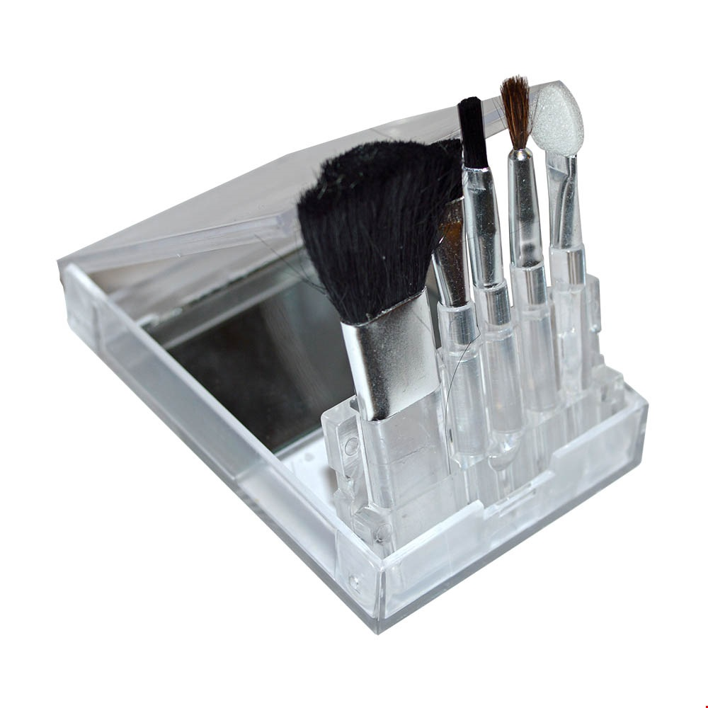 Compact Makeup Brush Set