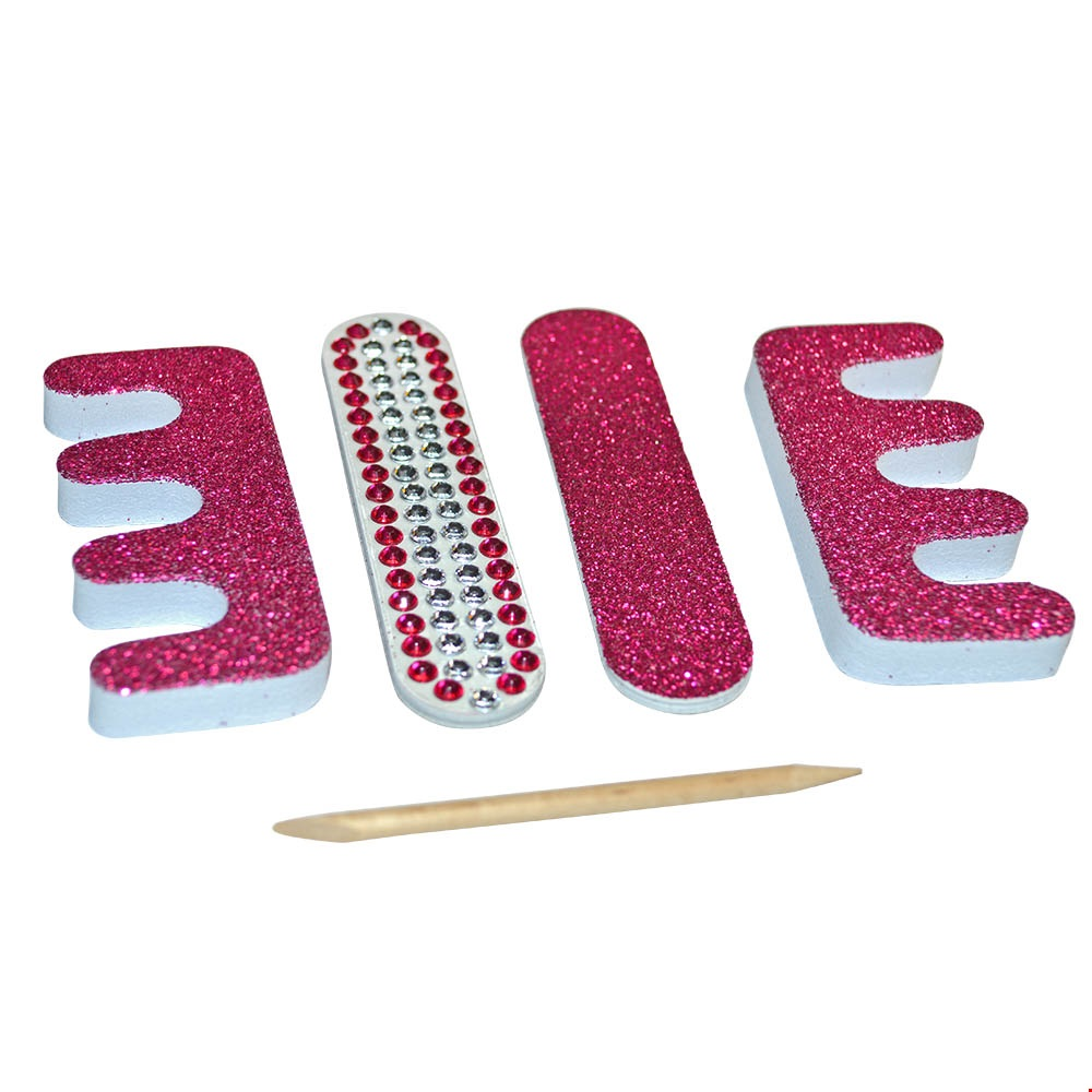 5 Piece Glitter Nail File Set