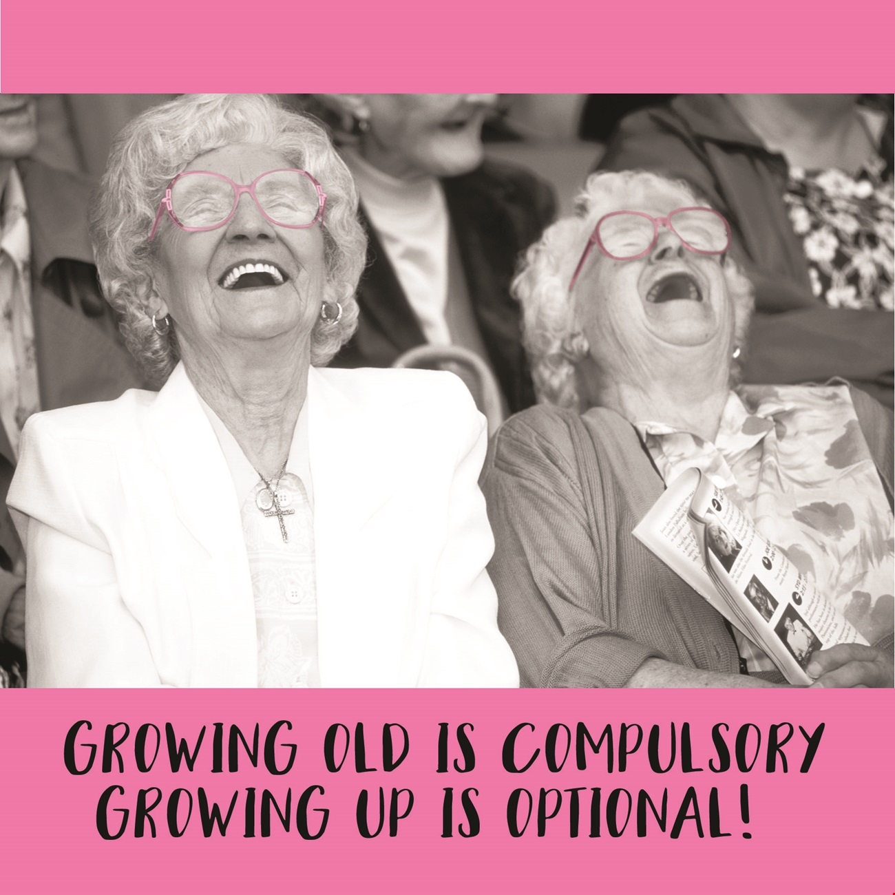 Growing Up is Optional Birthday Card