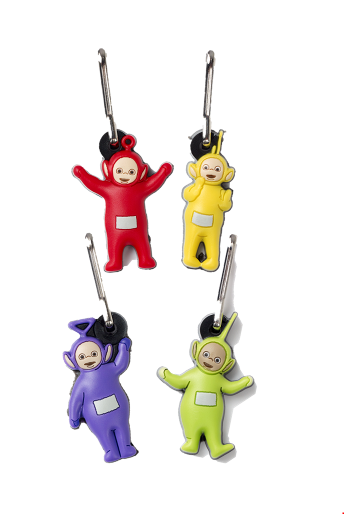 Teletubbies Zip Charms